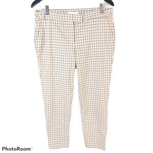 Joe Fresh Beige Neutral Plaid Trousers sz 8